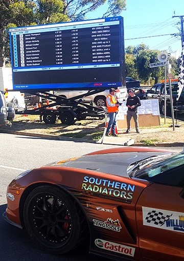 Big Vision LED Screens at Willunga Hill Climb annual racing event