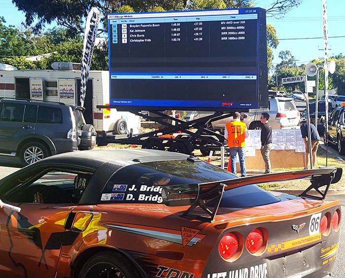 Our LED Screens being used at Port Lincoln Auto Sprint