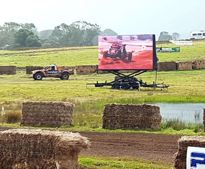 We supplied LED Screens for live streaming of the Pines Auto Enduro 2017 in Mount Gambier