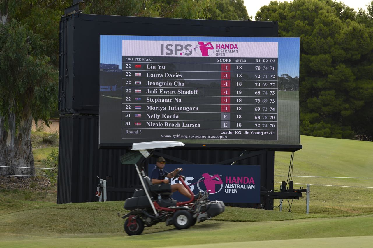 We provided LED Screens for the ISPS Handa Women's Australian Open golf tournament 2018