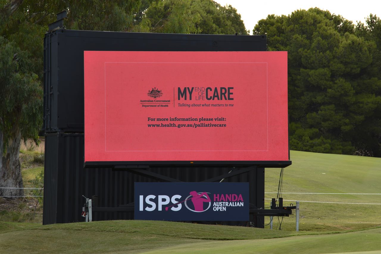 LED Screens are a great medium for showcasing public awareness messages
