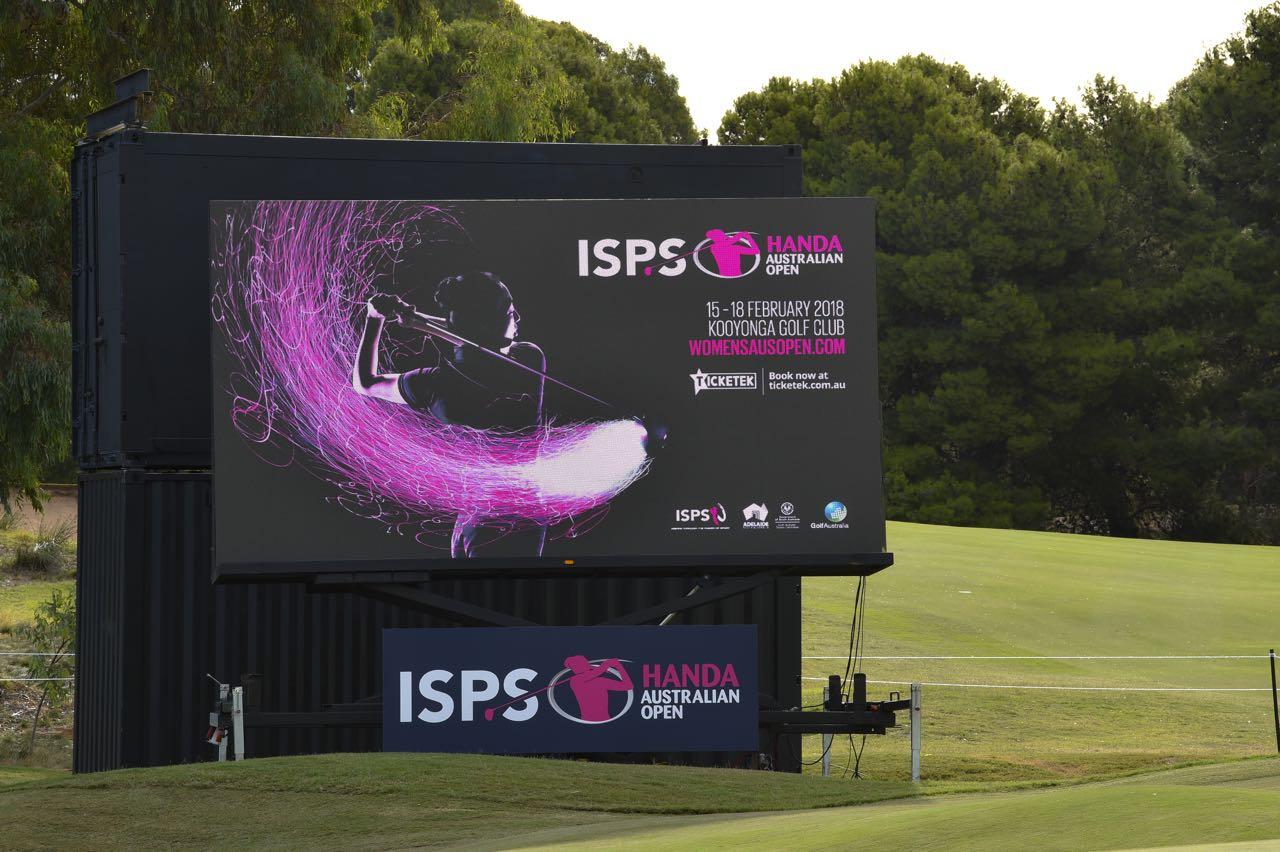 We provided LED Screens for the ISPS Handa Women's Australian Open golf tournament 2018