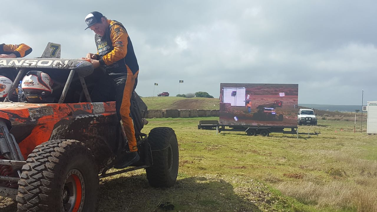 An event like the Pines Auto Enduro 2017 required our IP65 water rating, 16.5sqm, 5.9mm pixel pitch LED Screens to withstand the excitement of off-road dirt racing in unpredictable weather conditions in Mount Gambier