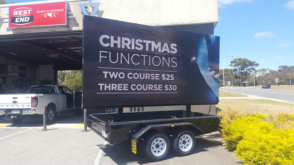 Midway Tavern hotel in Elizabeth is using our 16.5sqm LED Screen for displaying their latest promotional offers