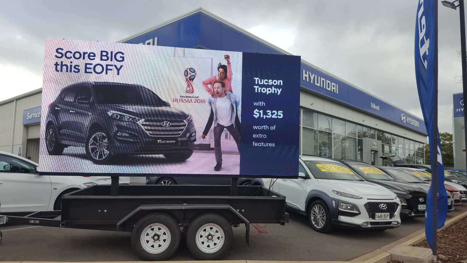 Our LED Screen used as promotional display for Hyundai Nailsworth