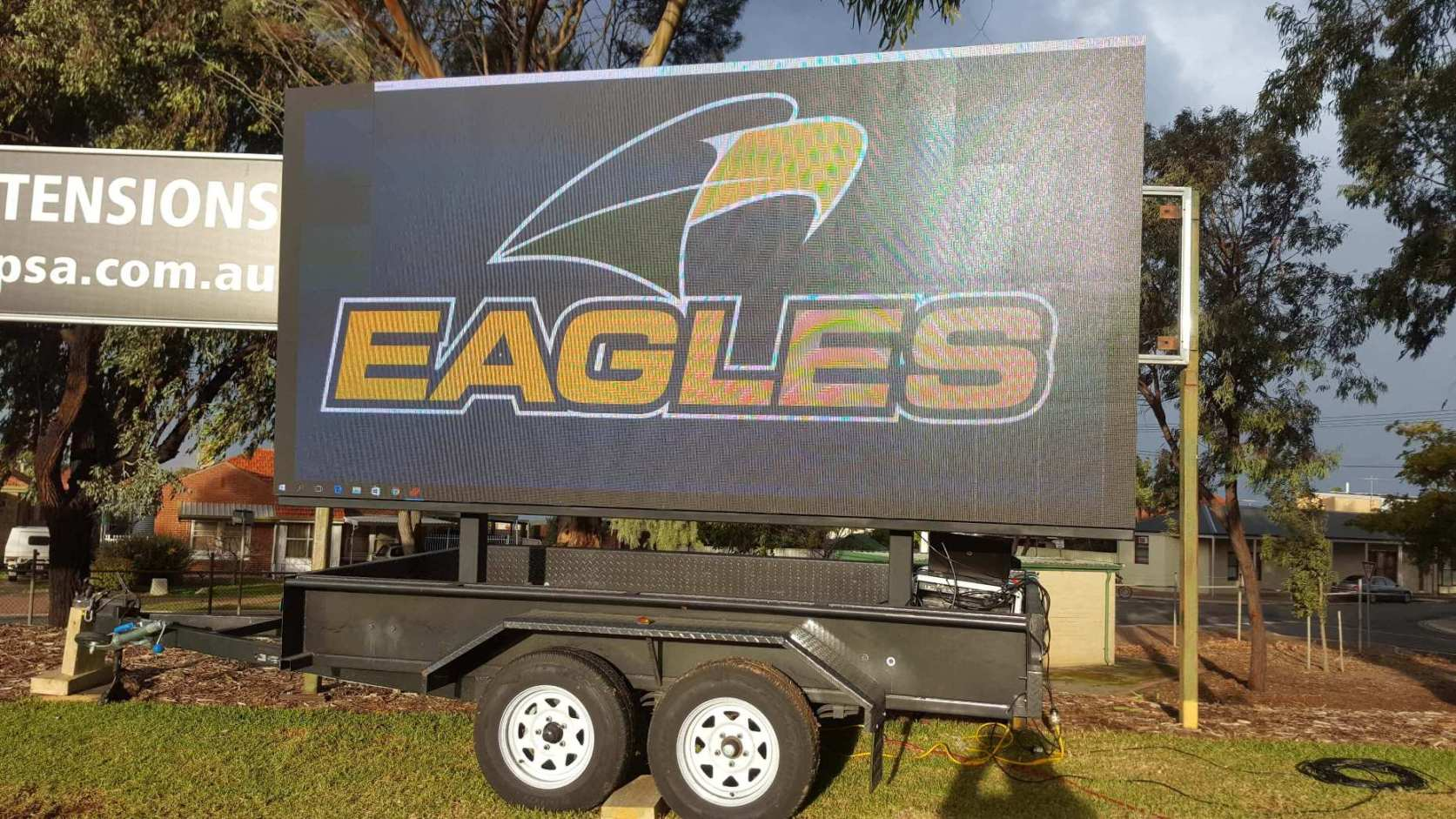 Big Vision Screens supplied the 16.5 sqm LED screen which was used as a coreboard for West Torrens Eagles match of South Australian National Football League